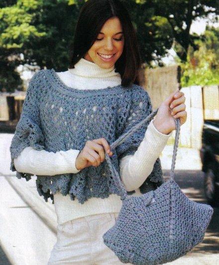 ажурная накидка и сумочка