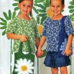 Детская вязанная сумка с ромашкой