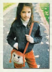 """Детская вязаная сумочка """"Девочка с косичками"""""""