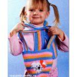 детская вязаная сумочка крючком с котиком