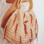 Фото вязаная сумка розовая крючок