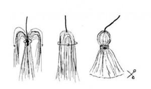 Как сделать кисти к вязаной сумке