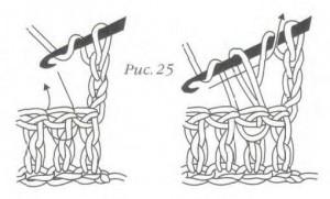 Как связать рельефный столбик с накидом изнаночный