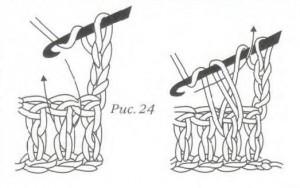 как связать рельефный столбик с накидом лицевой