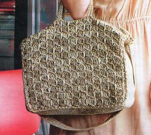 классическая вязаная сумка крючком, фото