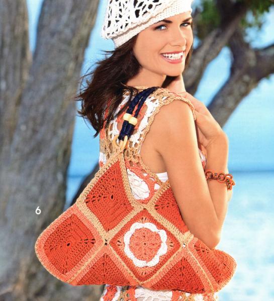 сумочка через плечо крючком схема - Сумки.
