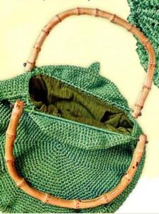 Летняя вязаная сумка крючком.