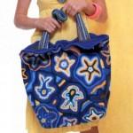 летняя вязанная сумка в морском стиле