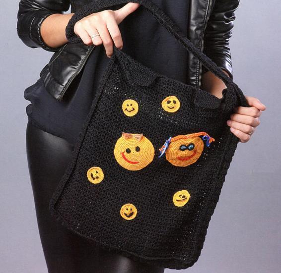 Молодежная вязаная сумка со