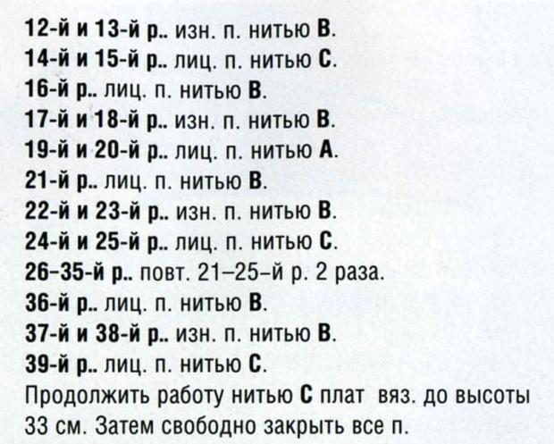 описание вязания 2
