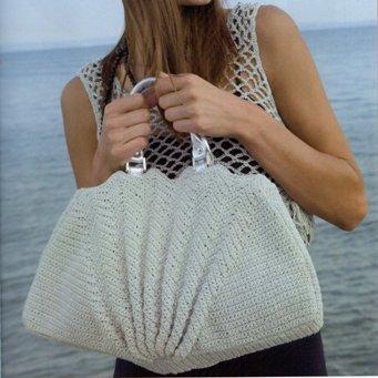 пляжная вязаная сумка крючком