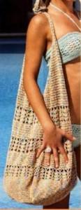 Пляжная вязанная сумка крючок