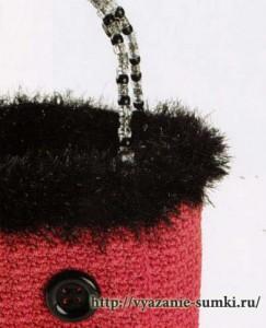 розовая сумочка, связанная крючком