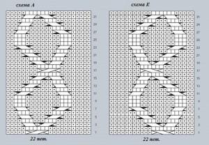 схемы вязания сумки, А и Е