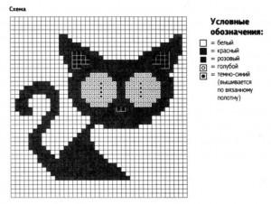 Схема вязания кошка крючком