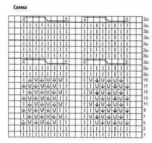 схема вязания косы к чехлу для ноутбука