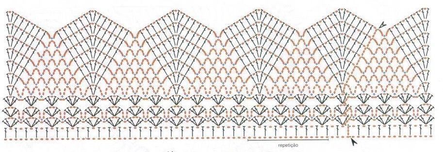 Схемы вязания накидки.