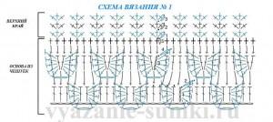 схема вязания сумки из чешуек крючком