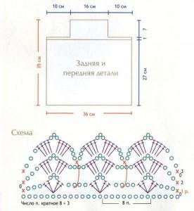 Схема вязания сумки крючком и выкройка