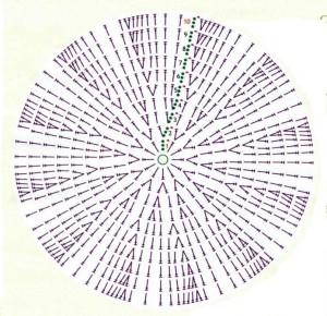 Схема вязания мотива