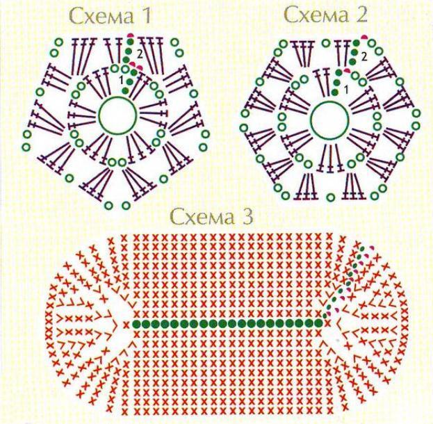Вязание крючком схемы рюкзаков 67