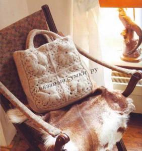 Светлая валяная сумка