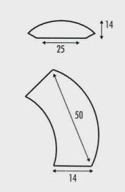 Выкройка 2 к вязанной сумке с цепями