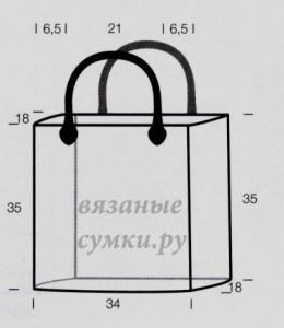выкройка большая вязаная зимняя сумка