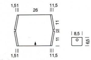 Выкройка маленькая вязанная сумочка крючком