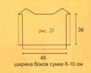 вязанная сумка в морском стиле выкройка
