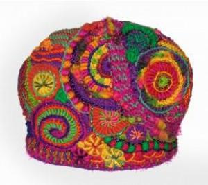 вязаная шапочка фриформ от ренаты киркпатрик