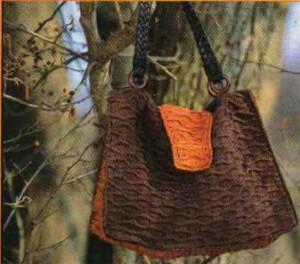 """Вязаная сумка """"Кофе и апельсины"""" Фото"""