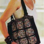 вязаная сумка крючком из квадратов