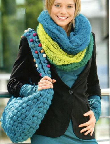 Эта большая вязаная сумка крючком ярко-бирюзового цвета разнообразит.