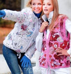 Вязание фриформ куртка и жилет