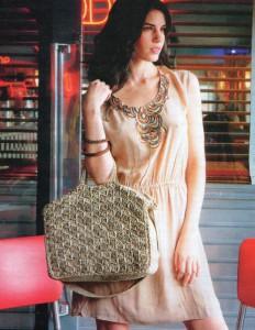 """Вязание крючком сумка """"стильная классика"""""""