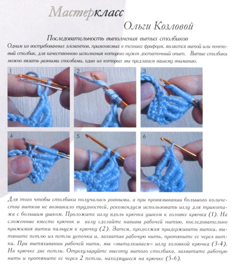 вязание витых столбиков мастер-класс