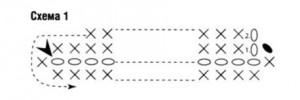 вязаный клатч крючком, схема вязания 1