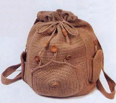Вязанный рюкзак описание