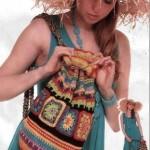 Вязаная сумка-торба крючком летняя
