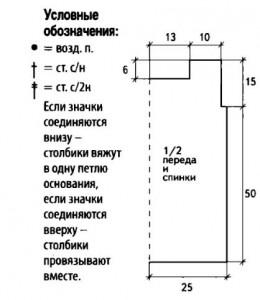 выкройка к топу и условные обозначения к схемам